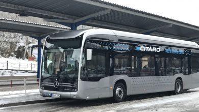 Photo of Jako první u nás testuje Mercedes-Benz eCitaro ICOM Transport v Třebíči. Horší podmínky si vybrat nemohl